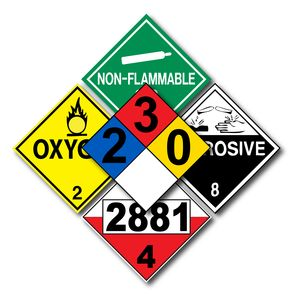 placards and labels dot compliant for hazmat shipping applications
